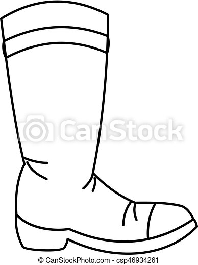 cowboy boot icon outline style cowboy boot icon in outline clip rh canstockphoto com