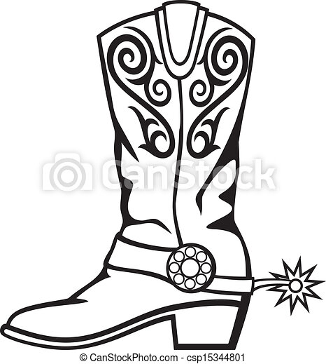 cowboy boot vector clipart search illustration drawings and eps rh canstockphoto com cowboy boots clipart images cowboy boots clipart png