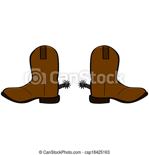 cowboy boots cartoon illustration of a pair of leather cowboy boots rh canstockphoto com cartoon cowboy boots with spurs cartoon cowboy boots with spurs