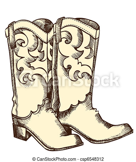 Cowboy boots .Vector graphic image - csp6548312