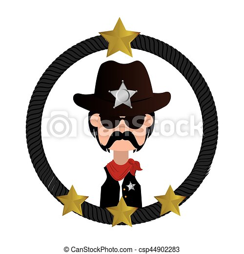 cowboy character wild west icon vector illustration design vector rh canstockphoto ie wild west clipart background wild west clip art borders