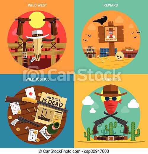 Cowboy Concept Set - csp32947603