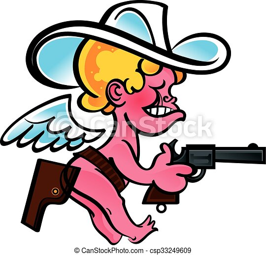 little funny cowboy cupid with gun vector clipart search rh canstockphoto com Valentine's Day Clip Art Cupid Clip Art Printable