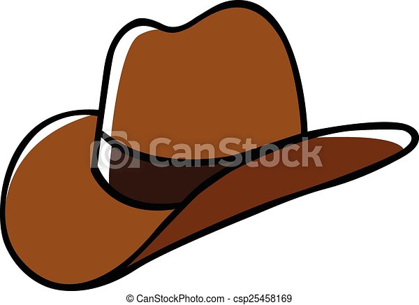 doodle illustration of a cowboy hat clip art vector search rh canstockphoto com Cowboy Hat Drawing Felt Cowboy Hats