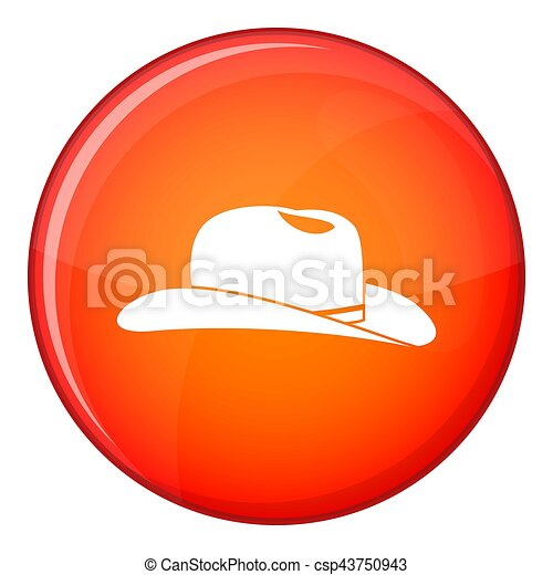 Cowboy hat icon, flat style - csp43750943