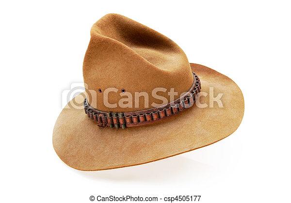Cowboy hat. Aussie cowboy hat. worn in hotter areas - the crown is ... b5ec6efb471