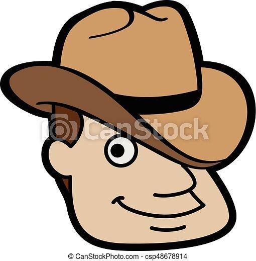 Cowboy Head Canstock