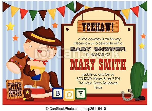 Cowboy Invitation - csp26119410