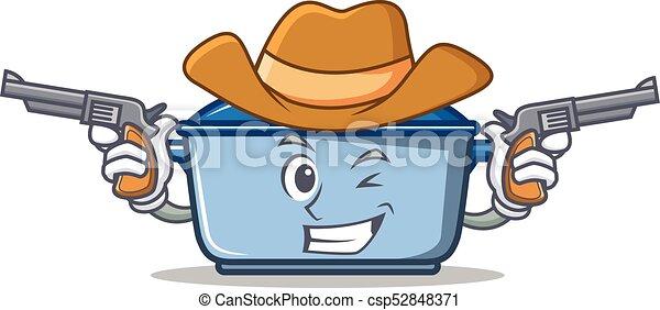 cowboy kitchen character cartoon style csp52848371 - Cowboy Kitchen