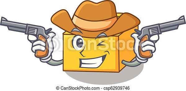 Cowboy plastic building blocks cartoon on toy - csp62939746