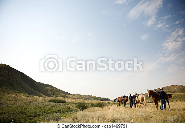 Cowboy Scene - csp1469731