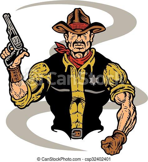 cowboy sheriff - csp32402401
