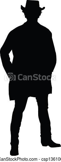cowboy silhouette silhouette of a cowboy rh canstockphoto com clipart cowboy silhouette cowboy cowgirl silhouette clip art