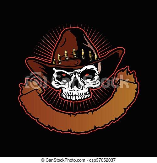 Cowboy skull - csp37052037