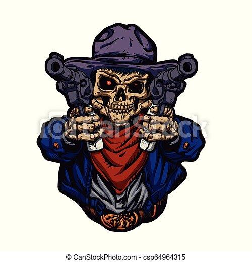 Cowboy skull kid - csp64964315