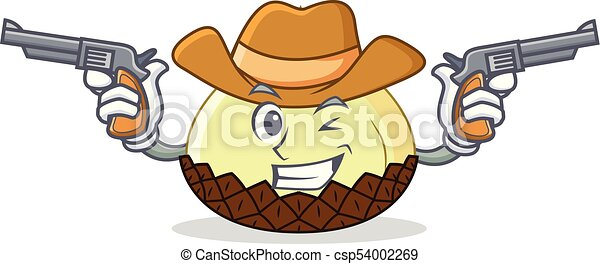 3083a40cac9 Cowboy snake fruit character cartoon