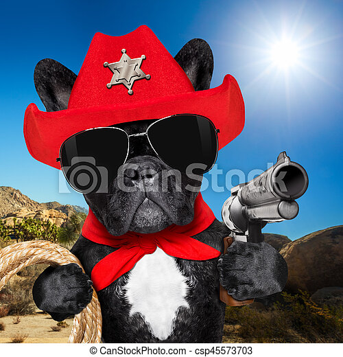 Cowboy Western Sheriff Dog Western Cowboy Sheriff French Bulldog