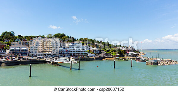 Cowes harbour Isle of Wight port - csp20607152