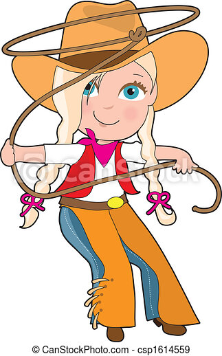 cowgirl kid a young girl is dressed like a cowgirl and stock rh canstockphoto com cowboy cowgirl clipart cowgirl clipart png