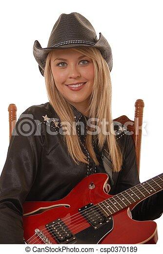 Cowgirl Musician 3 - csp0370189