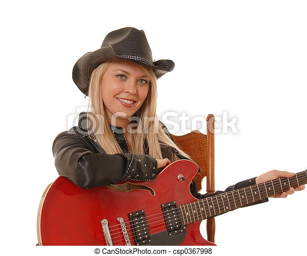 Cowgirl Musician - csp0367998