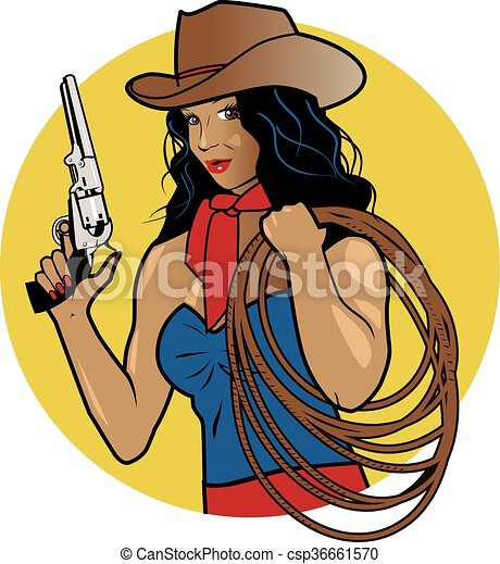 Cowgirl with Rope - csp36661570