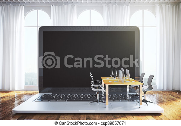 Amazing Coworking Office On Notebook Download Free Architecture Designs Embacsunscenecom