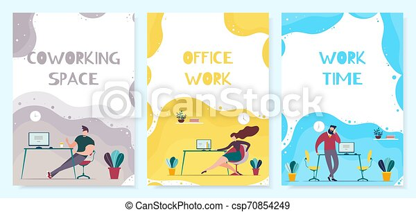 Coworking Office Time Management Mobile Cover Set - csp70854249