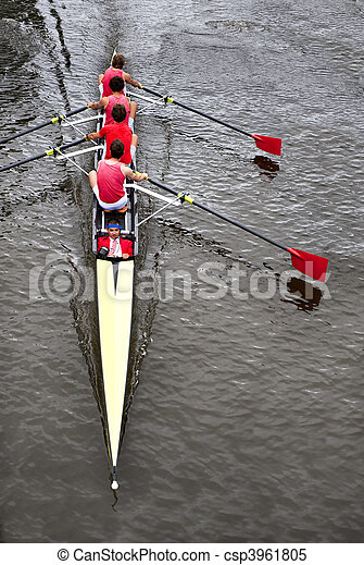 Coxed four from above - csp3961805