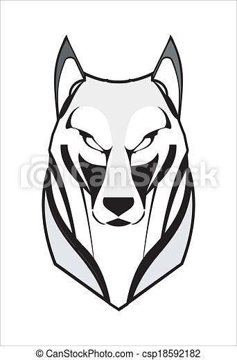 Lobo, coyote, husky, zorro - csp18592182