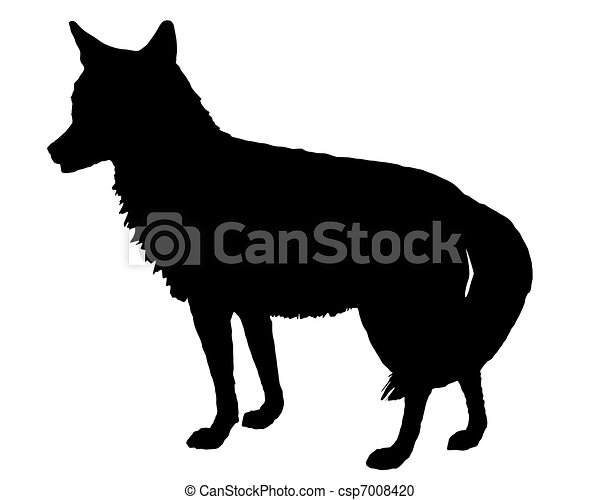 coyote silhouette rh canstockphoto com coyote clip art images coyote silhouette clip art free