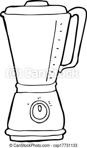 cozinha, caricatura, liquidificador - csp17731133