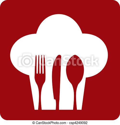 cozinheiro, restaurant., ícone - csp4249092