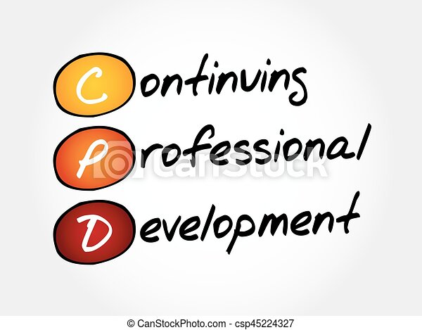 cpd continuing professional development acronym business concept rh canstockphoto com Clip Art Professional Development Opportunities professional development day clipart