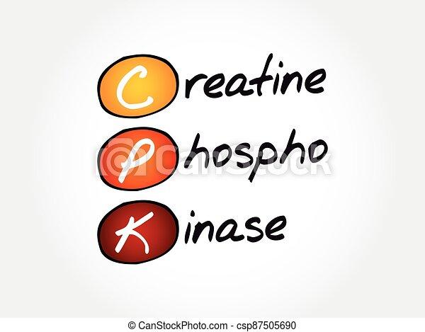 CPK - creatine phosphokinase acronym, concept background - csp87505690