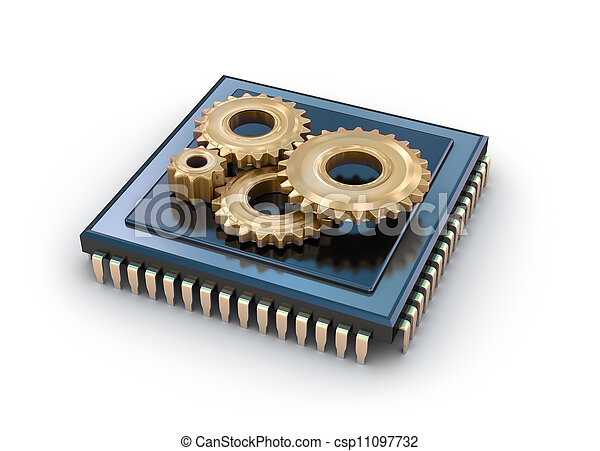 Cpu and gears  - csp11097732