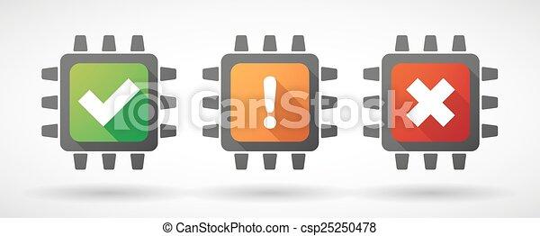 CPU icon set with survey icons - csp25250478