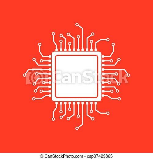 CPU Microprocessor illustration - csp37423865