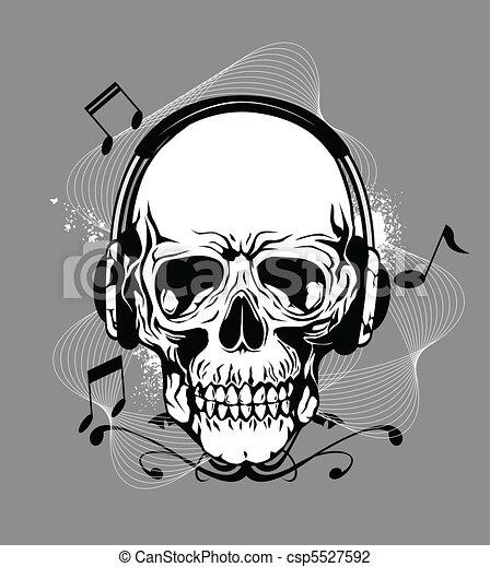 Calavera con auricular - csp5527592