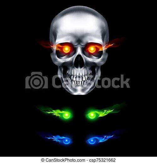 cráneo, humano - csp75321662