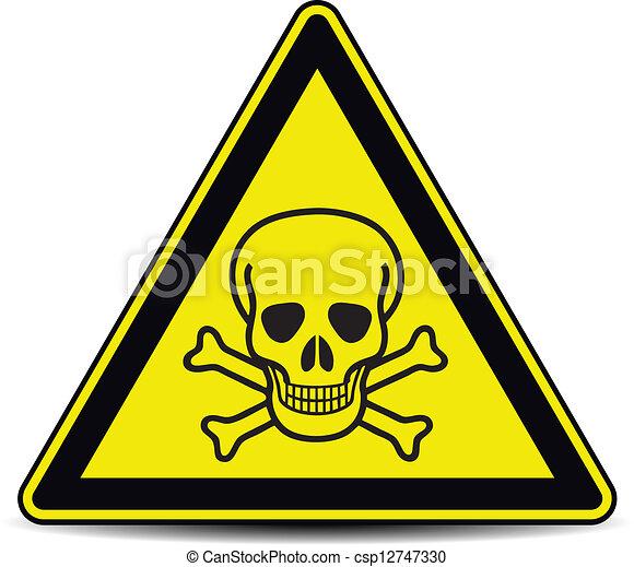 Signo de peligro de cráneo - csp12747330