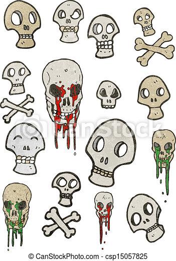 Cráneos de dibujos animados - csp15057825