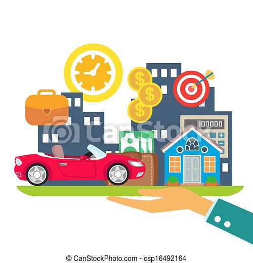 crédit, louer, hypothèque - csp16492164