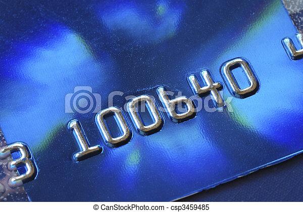 crédit, vue, haut, carte, fin - csp3459485