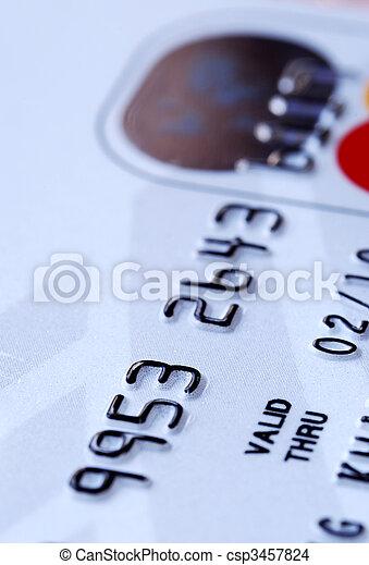 crédit, vue, haut, carte, fin - csp3457824