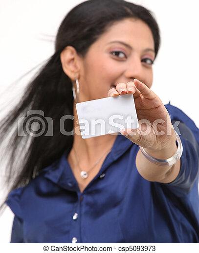crédito, menina, cartão - csp5093973
