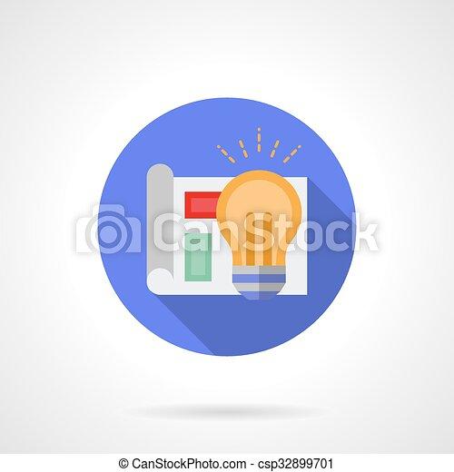 cr er couleur id e vecteur rond ic ne projet couleur signe conception plan. Black Bedroom Furniture Sets. Home Design Ideas