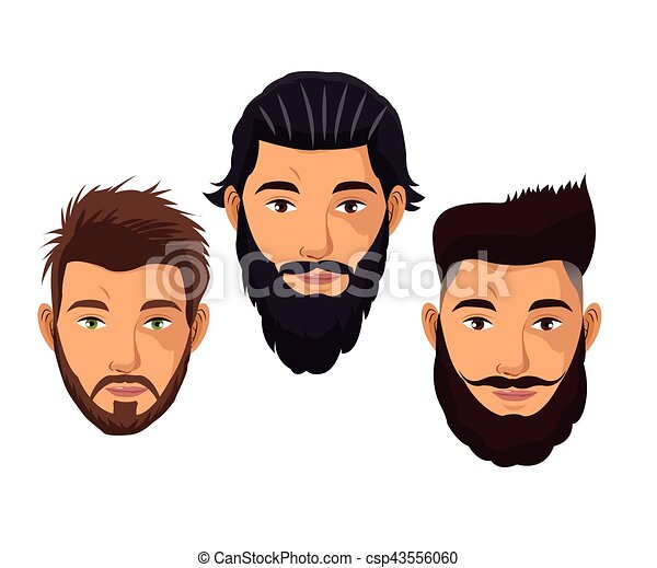 cr er une coiffure portrait mod le homme barbe 10. Black Bedroom Furniture Sets. Home Design Ideas