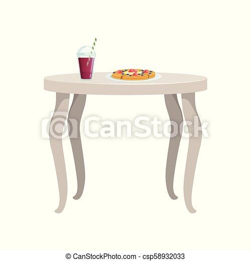 Crêpes Nourriture Boisson Illustration Vecteur Fond Table Blanc Petit Déjeuner