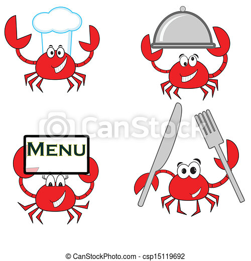 Crab Cartoon Of The Red Crab Isolated